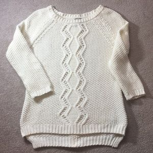 Cynthia Rowley cream cable knit sweater